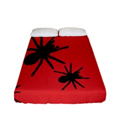 Illustration With Spiders Fitted Sheet (full/ Double Size)