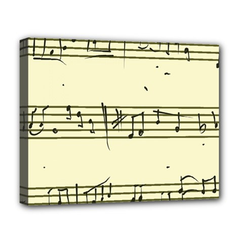 Music Notes On A Color Background Deluxe Canvas 20  X 16   by Nexatart