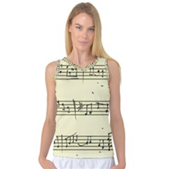 Music Notes On A Color Background Women s Basketball Tank Top by Nexatart