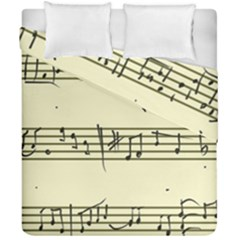 Music Notes On A Color Background Duvet Cover Double Side (california King Size) by Nexatart