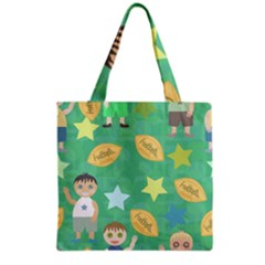 Football Kids Children Pattern Grocery Tote Bag by Nexatart
