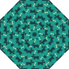 Happy Dogs Animals Pattern Golf Umbrellas by Nexatart