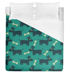 Happy Dogs Animals Pattern Duvet Cover (queen Size) by Nexatart