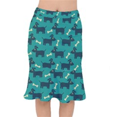 Happy Dogs Animals Pattern Mermaid Skirt by Nexatart