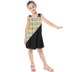 Note Abstract Paintwork Kids  Sleeveless Dress by Nexatart