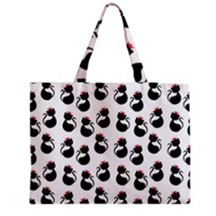 Cat Seamless Animals Pattern Medium Tote Bag by Nexatart