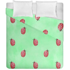 Pretty Background With A Ladybird Image Duvet Cover Double Side (california King Size) by Nexatart
