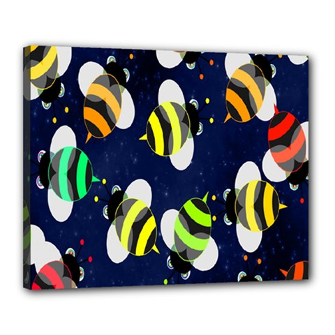Bees Cartoon Bee Pattern Canvas 20  X 16
