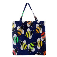 Bees Cartoon Bee Pattern Grocery Tote Bag by Nexatart