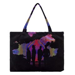 Abstract Surreal Sunset Medium Tote Bag