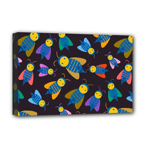 Bees Animal Insect Pattern Deluxe Canvas 18  X 12