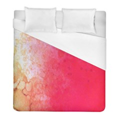 Abstract Red And Gold Ink Blot Gradient Duvet Cover (full/ Double Size)