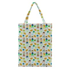 Football Kids Children Pattern Classic Tote Bag by Nexatart
