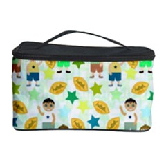 Football Kids Children Pattern Cosmetic Storage Case by Nexatart