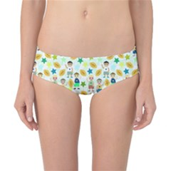 Football Kids Children Pattern Classic Bikini Bottoms by Nexatart