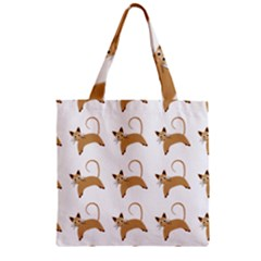 Cute Cats Seamless Wallpaper Background Pattern Zipper Grocery Tote Bag by Nexatart