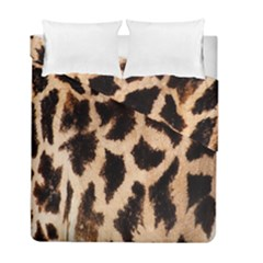 Yellow And Brown Spots On Giraffe Skin Texture Duvet Cover Double Side (full/ Double Size)