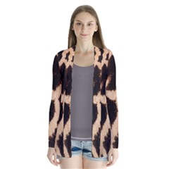 Yellow And Brown Spots On Giraffe Skin Texture Cardigans by Nexatart