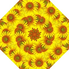 Sunflowers Background Wallpaper Pattern Hook Handle Umbrellas (large)