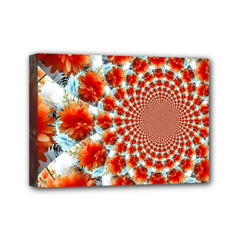 Stylish Background With Flowers Mini Canvas 7  X 5  by Nexatart