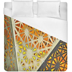 Abstract Starburst Background Wallpaper Of Metal Starburst Decoration With Orange And Yellow Back Duvet Cover (king Size)
