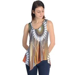 Floral Abstract Pattern Background Sleeveless Tunic
