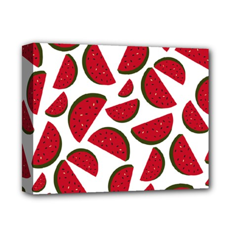 Fruit Watermelon Seamless Pattern Deluxe Canvas 14  X 11  by Nexatart