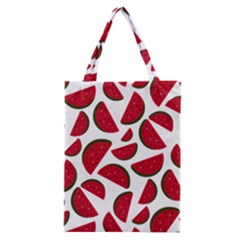 Fruit Watermelon Seamless Pattern Classic Tote Bag by Nexatart