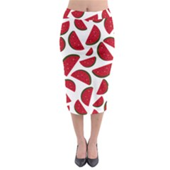 Fruit Watermelon Seamless Pattern Midi Pencil Skirt by Nexatart