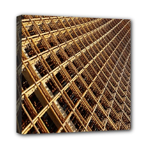 Construction Site Rusty Frames Making A Construction Site Abstract Mini Canvas 8  X 8  by Nexatart