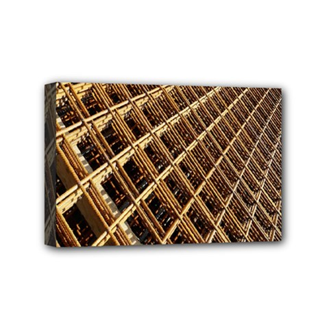 Construction Site Rusty Frames Making A Construction Site Abstract Mini Canvas 6  X 4  by Nexatart