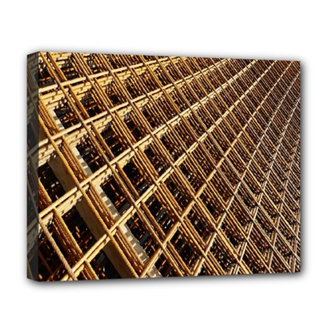 Construction Site Rusty Frames Making A Construction Site Abstract Deluxe Canvas 20  X 16   by Nexatart