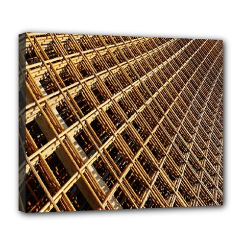Construction Site Rusty Frames Making A Construction Site Abstract Deluxe Canvas 24  X 20