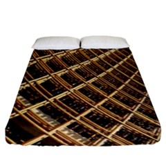 Construction Site Rusty Frames Making A Construction Site Abstract Fitted Sheet (king Size) by Nexatart