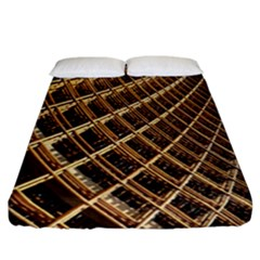 Construction Site Rusty Frames Making A Construction Site Abstract Fitted Sheet (california King Size) by Nexatart