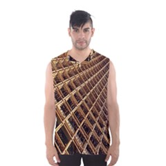 Construction Site Rusty Frames Making A Construction Site Abstract Men s Basketball Tank Top by Nexatart