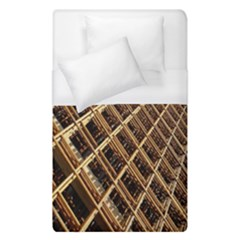 Construction Site Rusty Frames Making A Construction Site Abstract Duvet Cover (single Size) by Nexatart