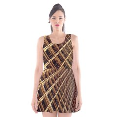 Construction Site Rusty Frames Making A Construction Site Abstract Scoop Neck Skater Dress