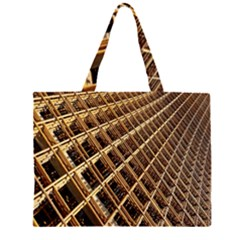 Construction Site Rusty Frames Making A Construction Site Abstract Zipper Large Tote Bag by Nexatart