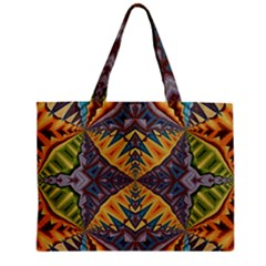 Kaleidoscopic Pattern Colorful Kaleidoscopic Pattern With Fabric Texture Zipper Mini Tote Bag by Nexatart