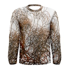 Digitally Painted Colourful Winter Branches Illustration Men s Long Sleeve Tee by Nexatart