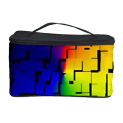 A Creative Colorful Background Cosmetic Storage Case by Nexatart
