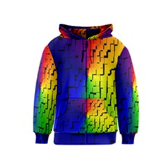 A Creative Colorful Background Kids  Zipper Hoodie by Nexatart