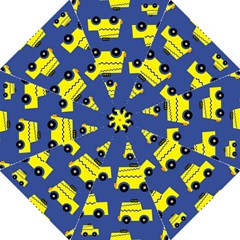 A Fun Cartoon Taxi Cab Tiling Pattern Folding Umbrellas by Nexatart