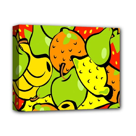 Digitally Created Funky Fruit Wallpaper Deluxe Canvas 14  X 11  by Nexatart