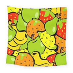 Digitally Created Funky Fruit Wallpaper Square Tapestry (large) by Nexatart