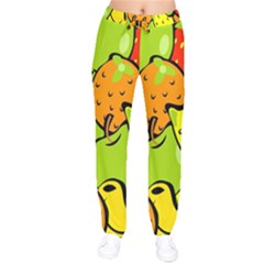 Digitally Created Funky Fruit Wallpaper Drawstring Pants by Nexatart