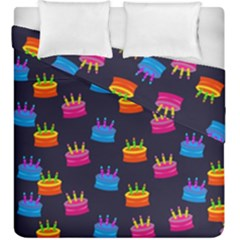 A Tilable Birthday Cake Party Background Duvet Cover Double Side (king Size) by Nexatart