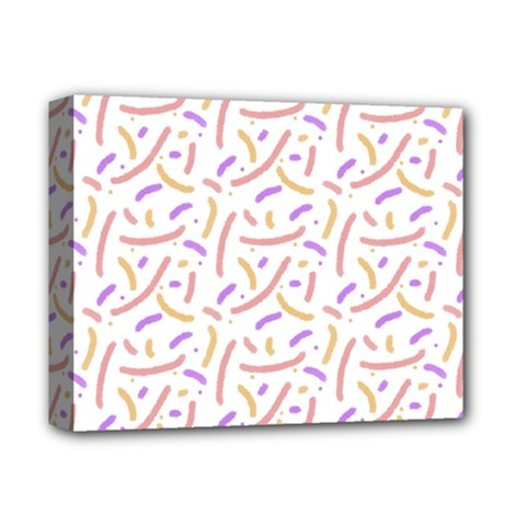 Confetti Background Pink Purple Yellow On White Background Deluxe Canvas 14  X 11