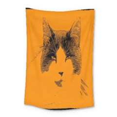 Cat Graphic Art Small Tapestry by Nexatart